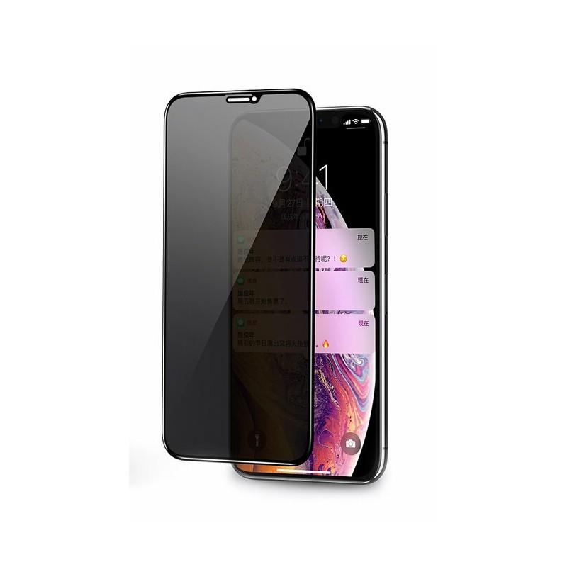 Folie sticla iPhone XS Privacy negru